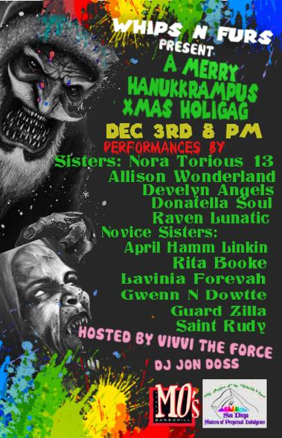 Vivvi The Force and The San Diego Sisters of Perpetual Indulgence present HannukKrampus!