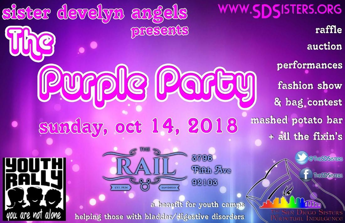 The Fifth Annual Purple Party for Youth Rally.